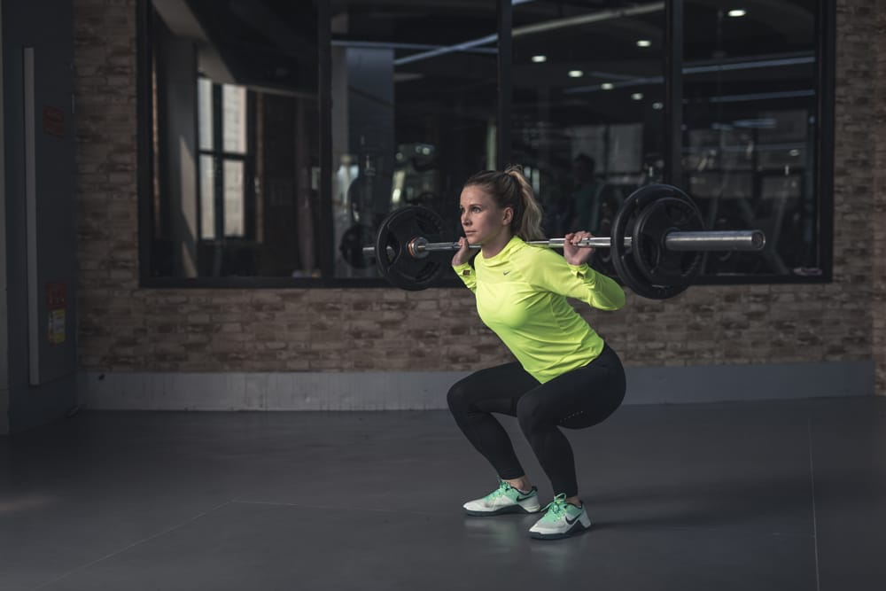 how to barbell squat