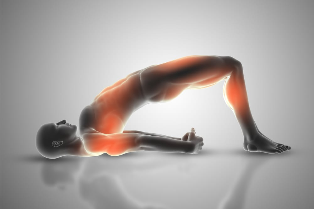 Steps to do the glute bridge: